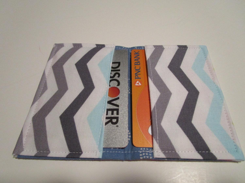 Chevron Credit Card Wallet, Rainbow of Chevrons, Chevron Wallet ...