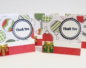 Handmade Christmas Mini Thank You Cards Oranaments and GIfts Set of 25 - luvncrafts