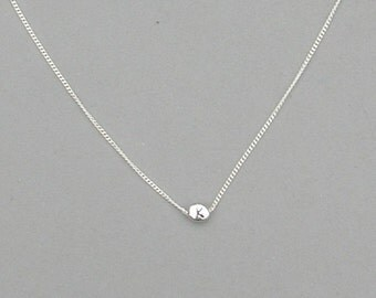 Initial K Bead Necklace