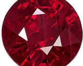 Glamorous Rich Red Ruby  Unique Beauty on this Fabulous Stone, Round Cut, 1.4 carats