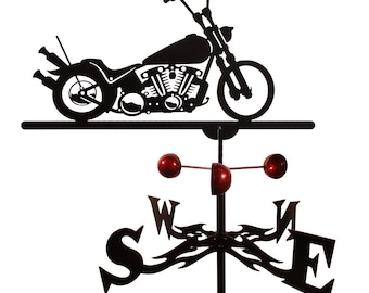Hand Made Farrell Bobber Motorcycle Weathervane New