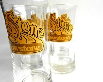 Retro Limestone at Yellowstone Glassware Set of Five