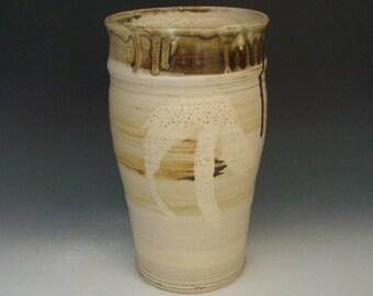 Hand thrown stoneware pottery jar  (AJ-11)
