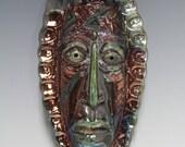 African Raku Mask number 14