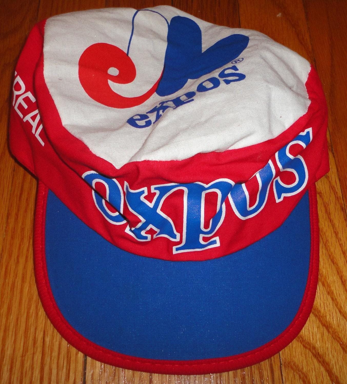 VintageTrafficUSA  MONTREAL EXPOS vintage snapback MLB painters hat ... 53f4f01c918f