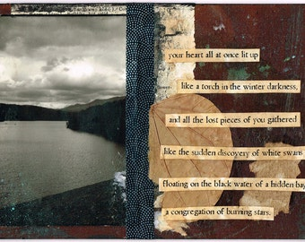 burning stars - Collage Art Print