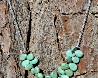 Island Paradise Blue Green Turquoise Howlite Briolette Necklace