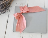 Wedding Guest Books - Photo Albums - Silk Dupioni Bow by Claire Magnolia