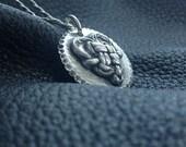 Fine Silver Knotted Heart Keepsake Pendant Necklace