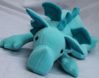 Aqua Plush Baby Dragon