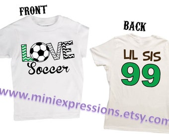 Soccer Sis Shirt Personalized with Number on back