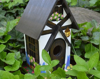 Hand Painted Tudor Birdhouse