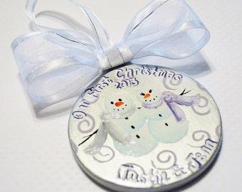 Couple'sCeramic Personalized Ornament