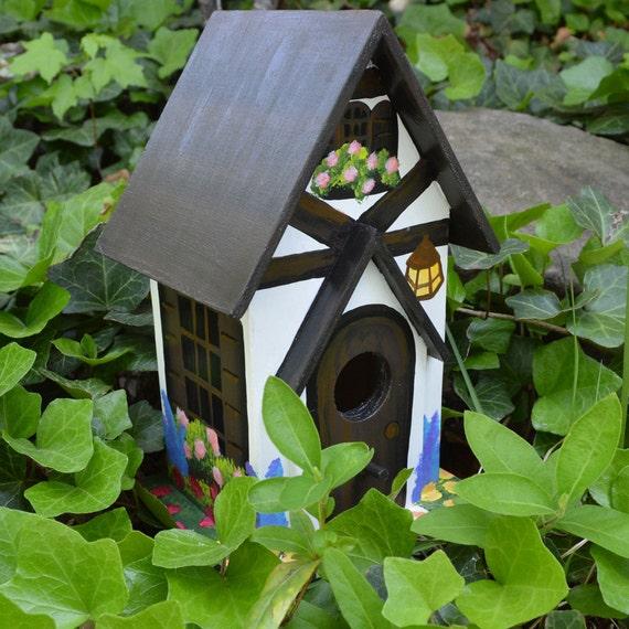 Hand Painted Tudor Birdhouse