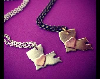 Louisiana love Necklace, small