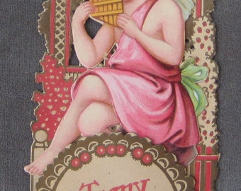 To The One I Love  Valentine Great 1928 German   Valetines Day Card