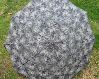 Its Raining Men Great 1940s 1950s  Vintage Umbrella Parasol Black N White
