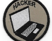 Computer Hacker Geek Merit Badge Patch