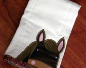 Peek a boo Horse Burp Cloth