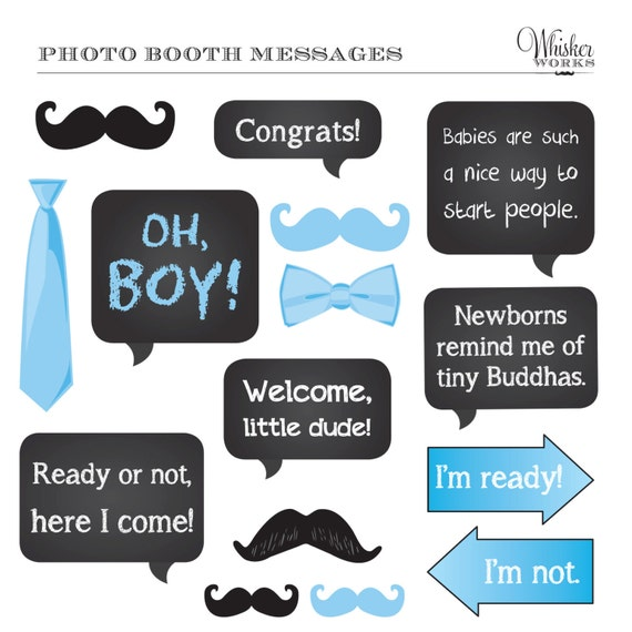DIY Photo Booth Printables BABY SHOWER It's a by WhiskerWorks