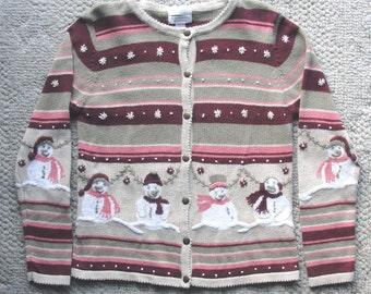 Ugly Christmas Sweater w Decorations All Around