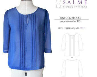 Pintuck Blouse PDF Sewing pattern