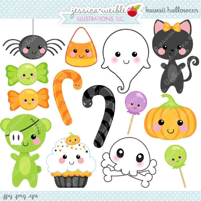Kawaii Halloween Cute Digital Clipart Commercial Use Ok