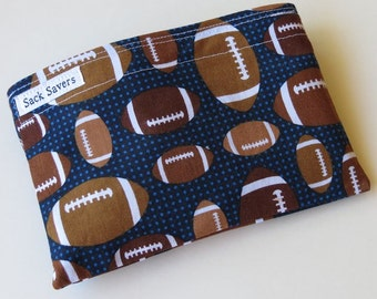 Reusable Eco Friendly Sandwich or Snack Bag Football