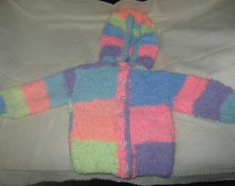 MULTI COLOURED BABYS jacket with hood