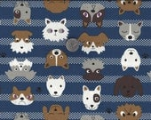Comic Cats Dogs Faces I Spy Cat Dog Kokka Japan Fabric By the Fat Quarter  BTFQ