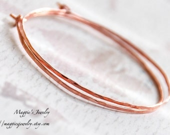 Copper Hoop Earrings Hand Hammered Copper Earrings Budget Luxe For Her