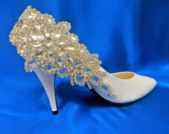 Two Rhinestone Shoe Clips