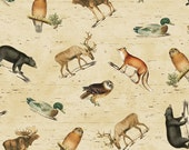 Postcards from the Lodge Forest Animals - Windham Fabrics - Fat Quarter