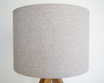 "Drum lamp shade 30cm / 12"" hemp yak natural"