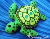 Sea Turtle Sewing Pattern PDF - Stuffed Animal Felt Plushie - Sammy the Sea Turtle