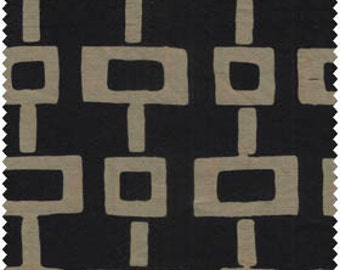 Sale-Java Batiks Macchiato by Galaxy Fabrics -- Full or Half Yard Tan/Gold Squares and Rectangles on Black Quilt Fabric