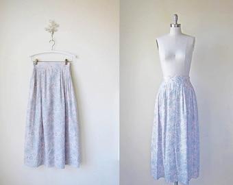 Maxi Skirt | Pleated | Paisley Print Skirt