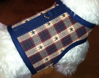 SALE Americana Cotton Small Dog Harness
