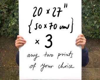 "Your Choice 3 Poster prints  20""x27"" - archival fine art giclée print"