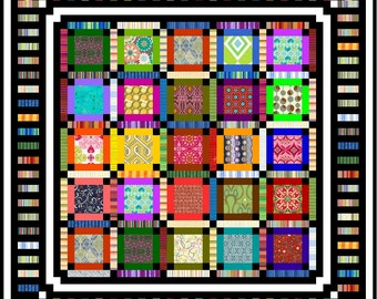 "NEON - Lap 53"" x 53"" - Quilt-Addicts Pre-cut Quilt Kit or Finished Quilt"