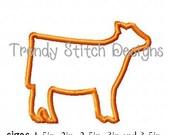 Show Heifer Small size Applique Design Machine Embroidery Design INSTANT DOWNLOAD