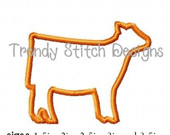 Show Heifer Small size Applique Design Machine Embroidery Design INSTANT DOWNLOAD