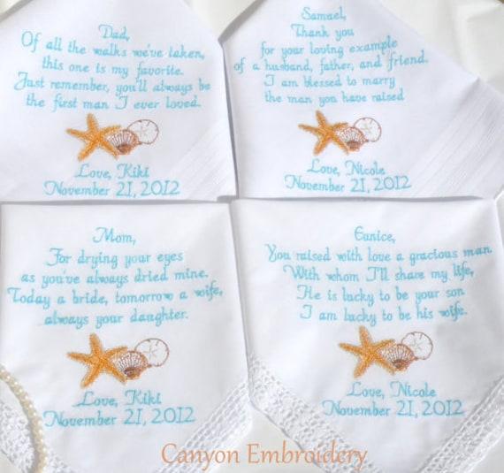 Wedding Handkerchief Embroidered Wedding Handkerchiefs