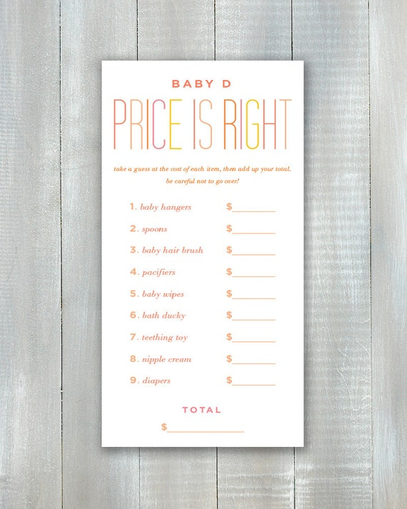 Price Is Right PDF Game