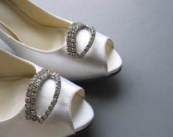Vintage Rhinestone Shoe Clips - Hollywood Glam