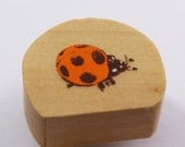 Realistic LADY BUG Wood stamp - forest stamp or nature stamp with lady bug - lady bug rubber stamp for scrapbooking, crafting, outdoor theme