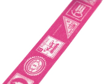 Washi tape Dark Pink Old World Postage Stamps
