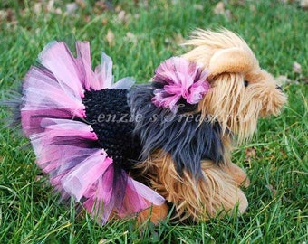 Create Your Own Dog Tutu And Matching Collar Puff Clip - Fits Dogs 13 To 23 Inches Around