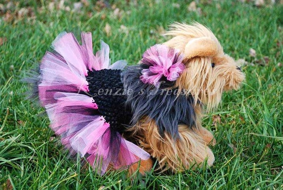 Create your own dog tutu and matching collar puff clip fits Dog clothes design your own