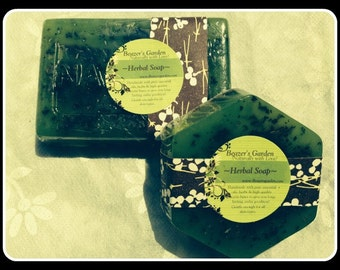 "Handmade Herbal Soap- Lemongrass- Rosemary- Peppermint- Scented Soap- Stimulating ""Energy"" Soap- Bath & Body- Home Spa Day-Valentine's Day"